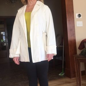 Women's Double Breasted Express Raincoat.